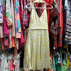 Betsy Johnson white & yellow polka dot dress
